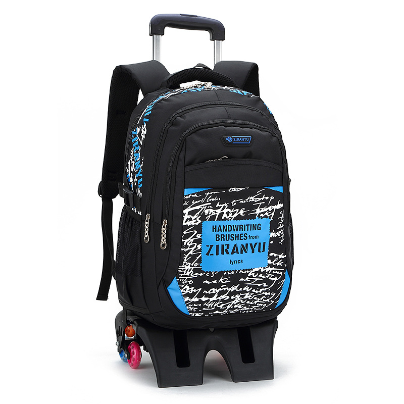 Removable Children School Bags With Wheels Stairs Kids boys Trolley school backpack Schoolbag Luggage Book Bags Wheeled Backpack
