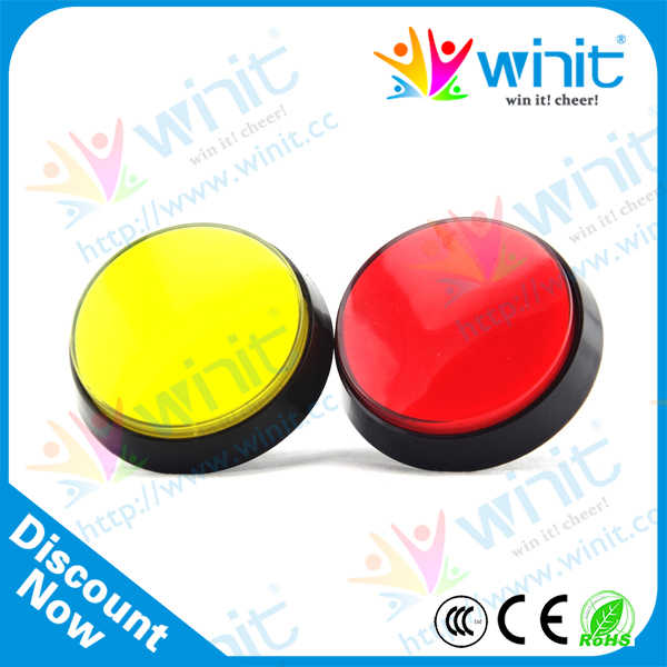 60mm Round Flat Waterproof Illuminated Electric Push Button Micro Switch Momentary 12v With  LED Arcade Button Switch