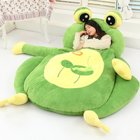 2018 Huge Giant Plush Bed Kawaii Bear Pillow Stuffed Monkey Frog Toys Frog Peluche Gigante Peluches De Animales Gigantes 50T0423