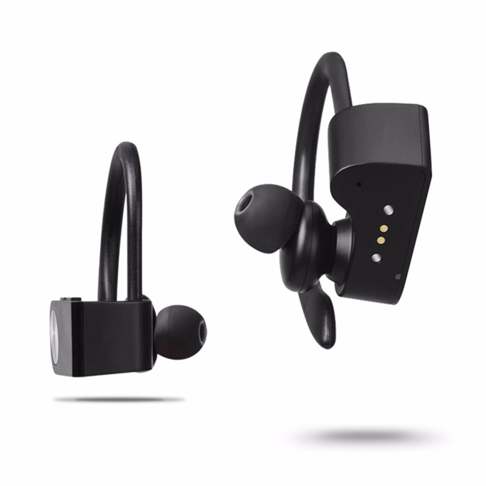 Hot Smart Mini Wireless Bluetooth Headset Outdoor Sport Fashion Ear Hook with NFC function Mic Earphone for Mobile Phone