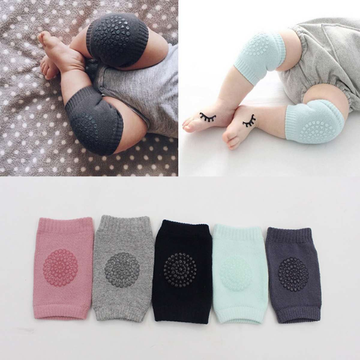 1 Pair Baby Knee Pad Baby Kneecap Kids Safety Crawling Elbow Cushion Infant Toddler Leg Warmer Knee Support Sport Protector Gear