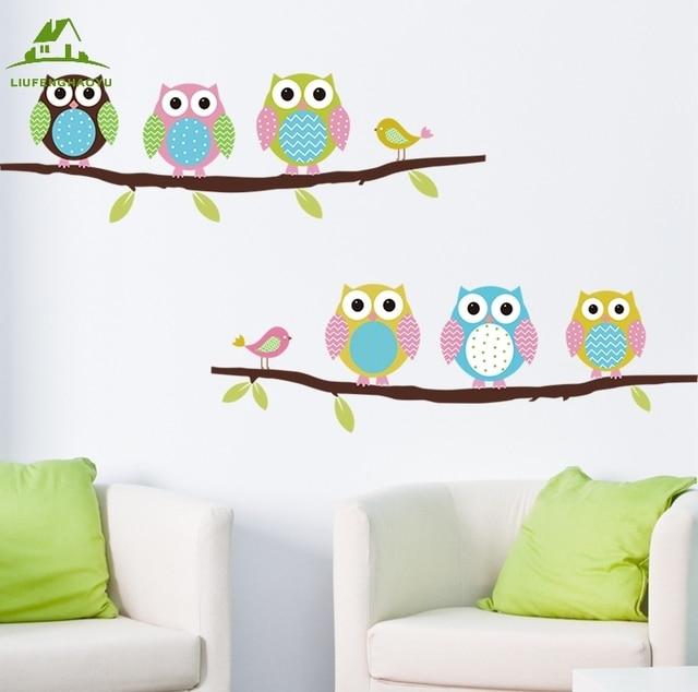 6 owls vinyl stiker dinding kamar anak anak dekorasi rumah sofa