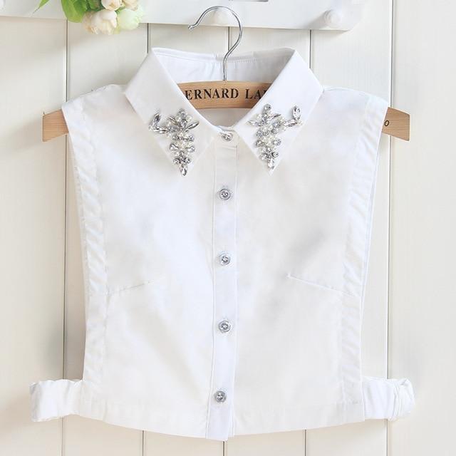 e845df3e551 detachable collars accessories fake collar shirt diamond white sweaters lace  collar fake fashion collar women ladies decorative