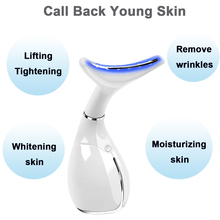 Face Massager Lifting Soin Visage Neck Anti Wrinkle Double Chin Slimmer Beauty Machine Skin Tightening LED Photon Light Therapy
