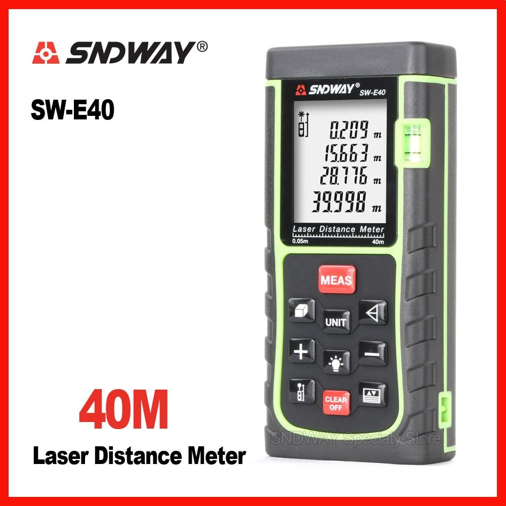 Sndway SW-E40 40m laser range finder distance tape measure roulette meter measuring the trena rangefinder Electronic ruler tool