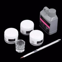 High Quality Portable Nail Art Tool Kit Set Crystal Powder Acrylic Liquid Dappen Dish Drop Shipping