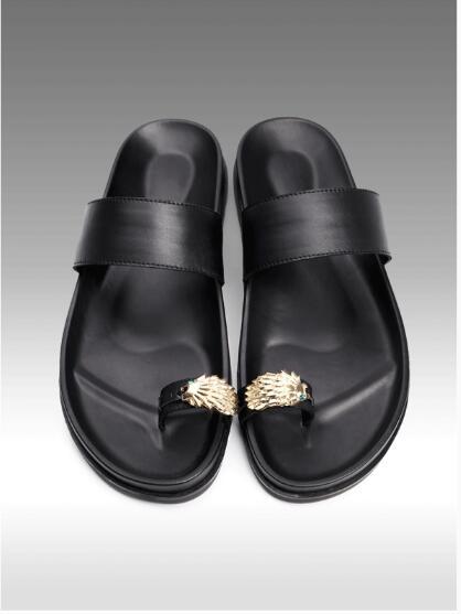 Thong Flip flops for men Summer Flat heel Beach Sandals Leather Men s Rome Gladiators Men