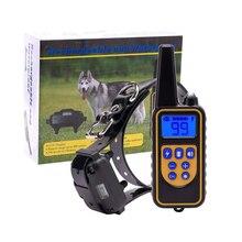 800 м/2600ft удаленный собаки шок воротник, IPX7 Водонепроницаемый и Перезаряжаемые коры воротник с 0 ~ 99 уровней Звуковой сигнал/вибрации/шок воротник