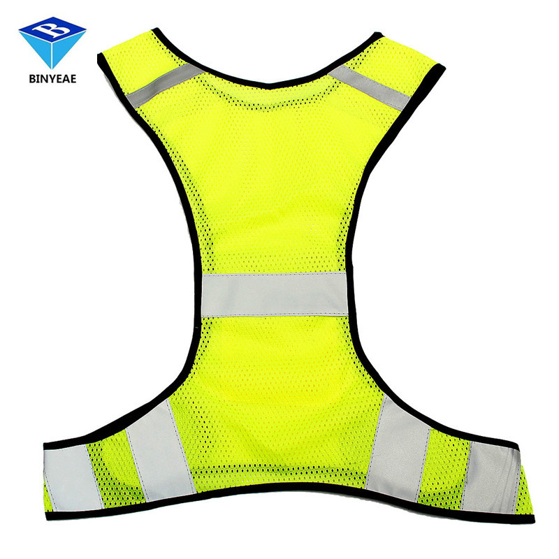 Fluorescent Yellow High Visibility Reflective Vest Security Equipment Night Work New Arrival High Quality Genuine BINYEAE
