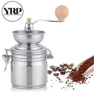 Image 2 - YRP paslanmaz çelik manuel kahve baharat öğütücü öğütme değirmeni el aracı ev değirmeni freze makinesi kahve aksesuarları