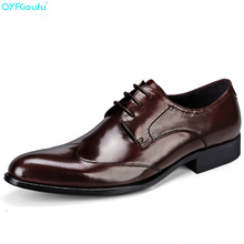 QYFCIOUFU Fashion Designer Shoes Men Luxury Business Dress Genuine Leather Quality Cow Lace Up Formal