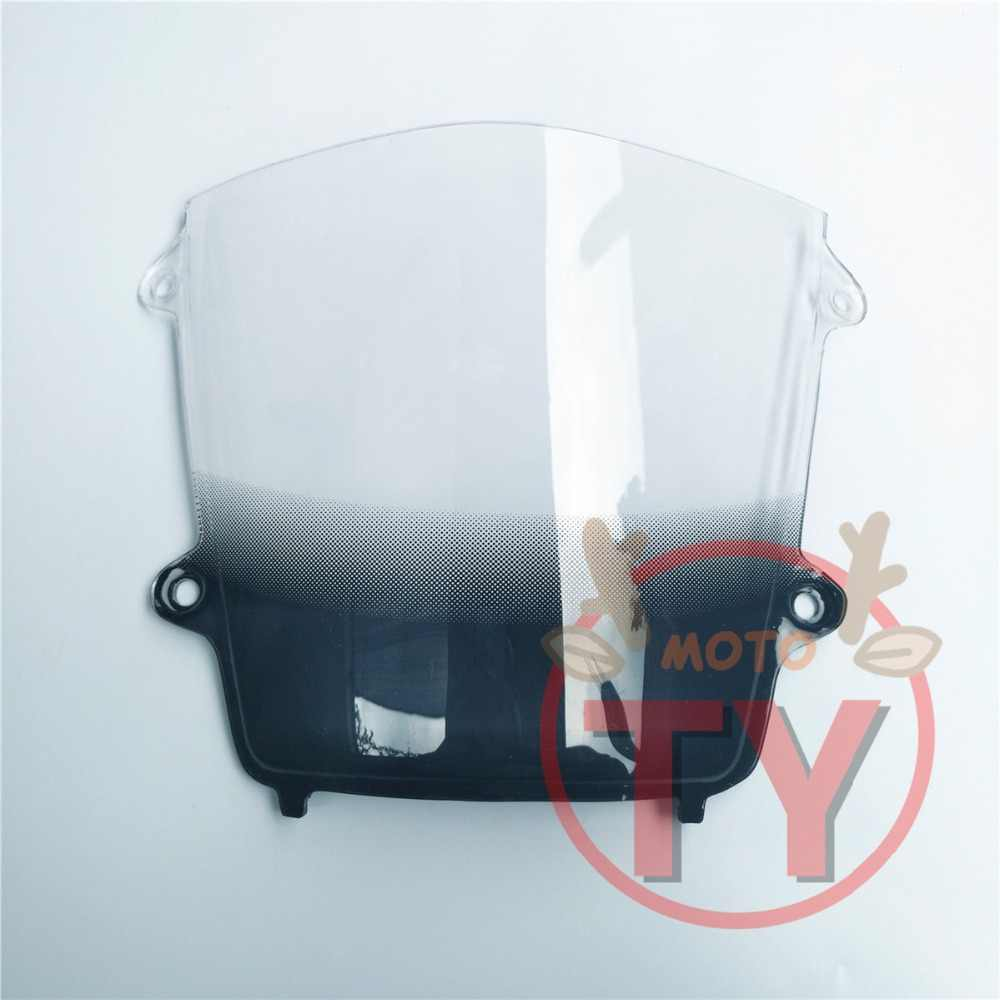 For Honda CBR 600 F5 2013-2017 13 17 cbr 600 f5 CBR600 RR cbr600 rr Black smoke Windshield Windscreen Double Bubble Acrylic