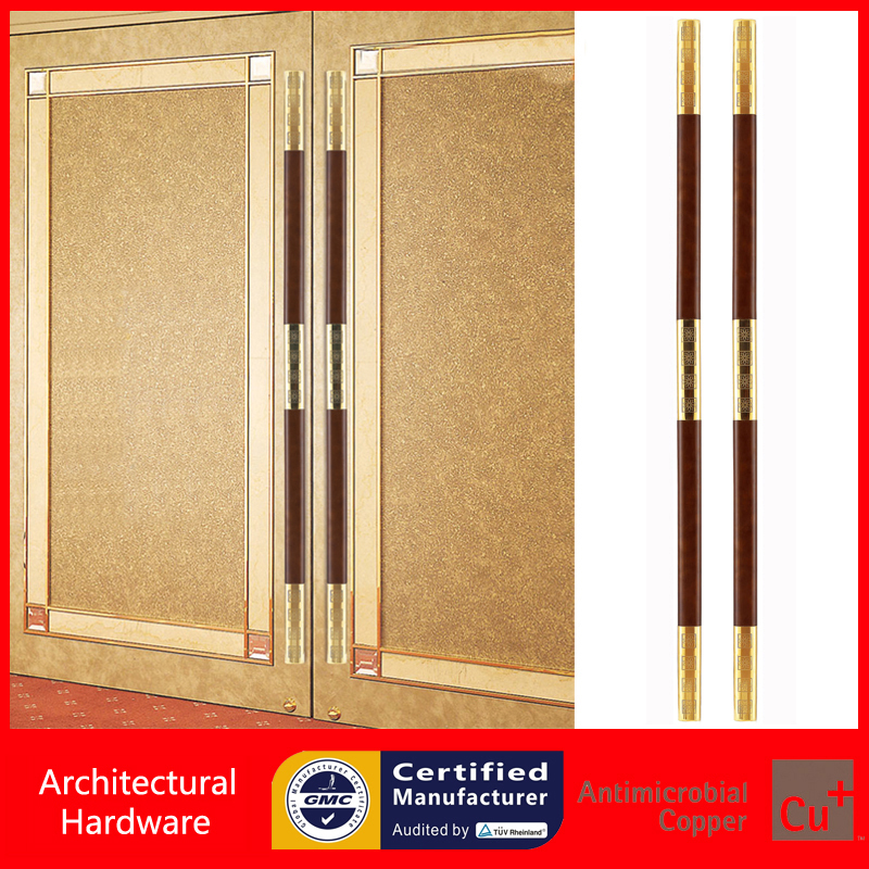 Entrance Door Handle Stainless Steel+Solid Wood Pull Handles For Wooden/Frame Doors PA-722-32*62*1800mm antimicrobial environmental wood pull handle pa 710 entrance door handles for entry glass shop store doors
