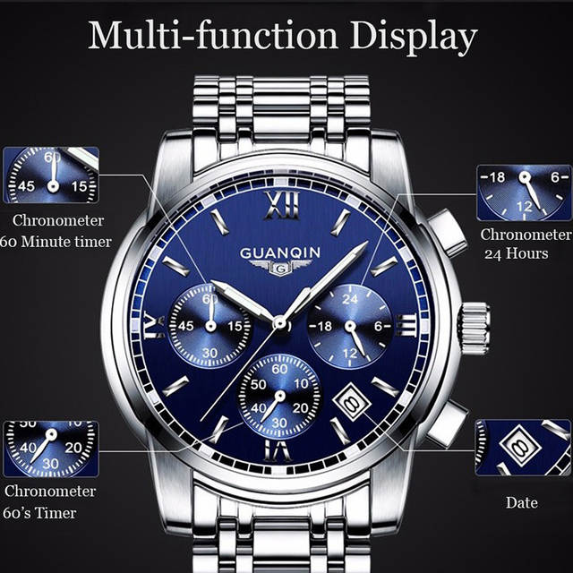 placeholder GUANQIN Relogio Masculino Mens watches Top Brand Luxury Quartz  business Chronograph Watch Swimming Wristwatch relojes hombre 5a3b73d61f