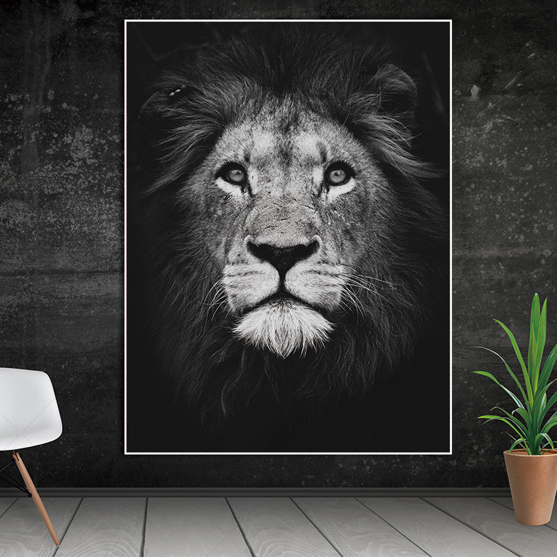 Nordic-poster-canvas-Wall-art-animal-canvas-painting-home-deor-Wall-Pictures-print-for-Living-Room