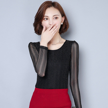 Plus Size Autumn Shirt For Women Blouses 2016 New Striped Blouse Long Sleeve O-neck Women Shirt Lady Fashion Shirts