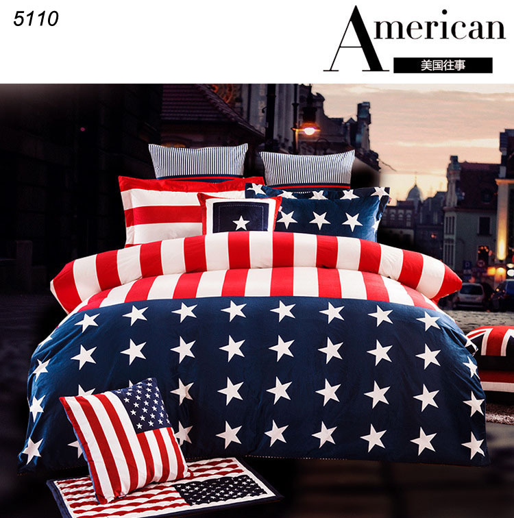 America memory velour bedclothes USA us flag bedding Stars
