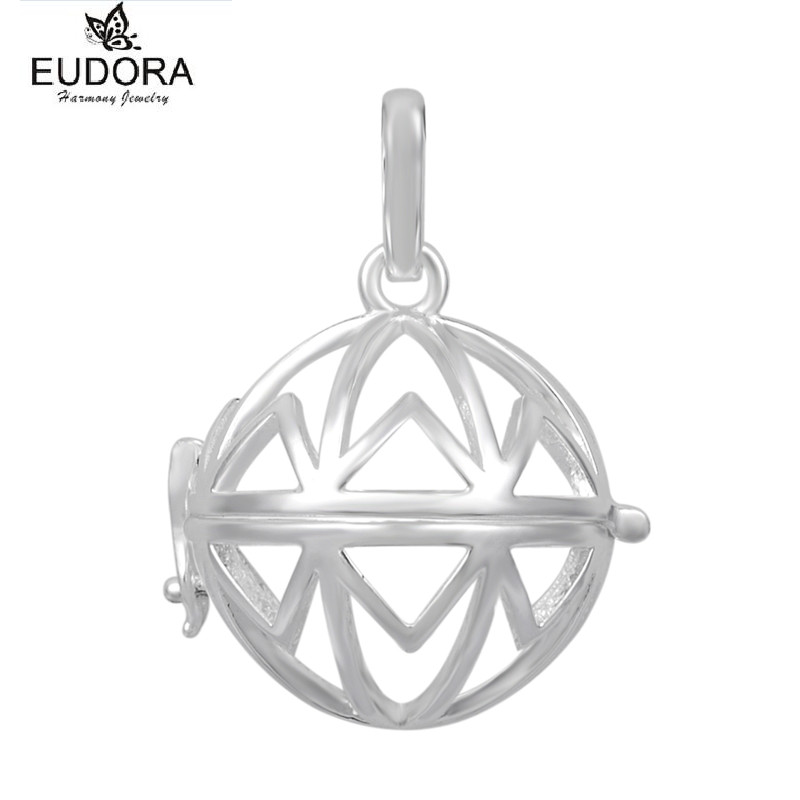 5PCS Eudora Copper Metal Pendants Necklace Baby Angel Caller Harmony Bola Locket Cage Pendant for 18mm Mexican Bola Chime Ball