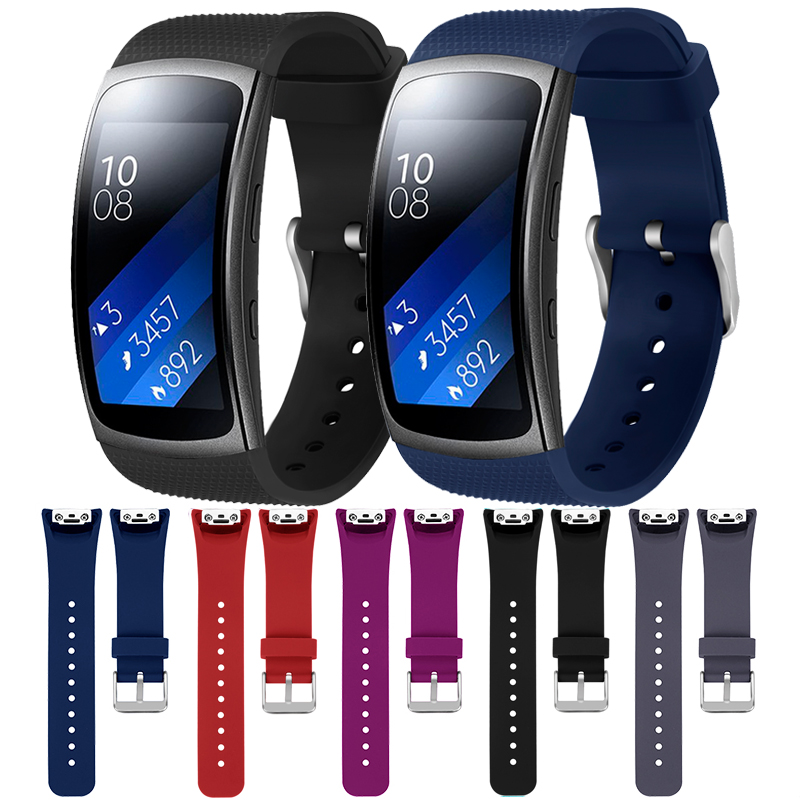Sport Watch Band For Samsung Gear Fit2 Pro Luxury Silicone Watchbands For Samsung Gear Fit 2 SM-R360 Bracelet Wristband Strap