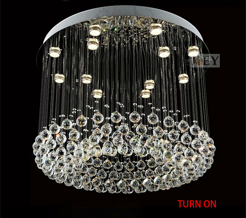 Modern crystal pendant Italy simply lamp For Foyer Lights and diningroom Luxury Hotel rooms lighting Guaranteed 100% 9064-800 simply computing for seniors
