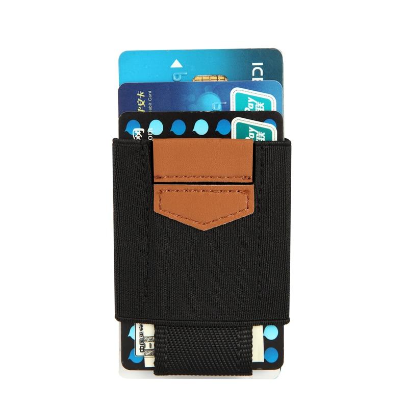 Еластичен държач за кредитна карта Мини притежател на лична карта Картодържател Минималистичен тънък портфейл