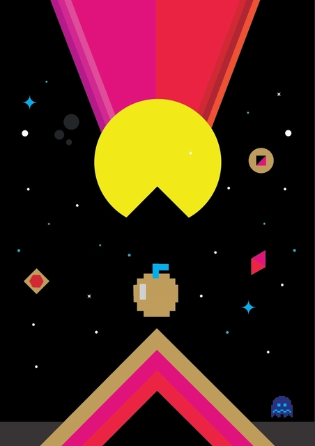 US $3 98 |Pacman Eat Apple Vintage Video Games Propaganda Poster Retro  Canvas Painting DIY Wall Stickers Art Home Bar Posters Decor Gift-in Wall