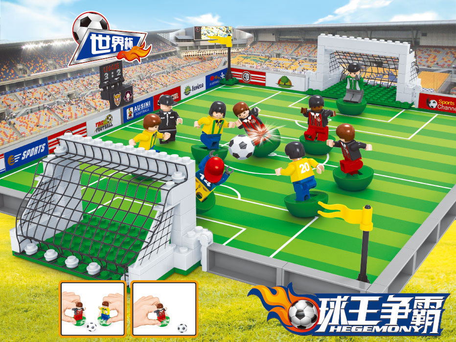 Model building kits compatible with lego city football series 88 3D blocks Educational model building toys hobbies for children цена
