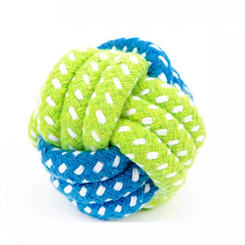 Pet Supply Dog Green Rope Chew Toy Outdoor Training Fun Playing Cat Dogs Toys For Large Small Dog