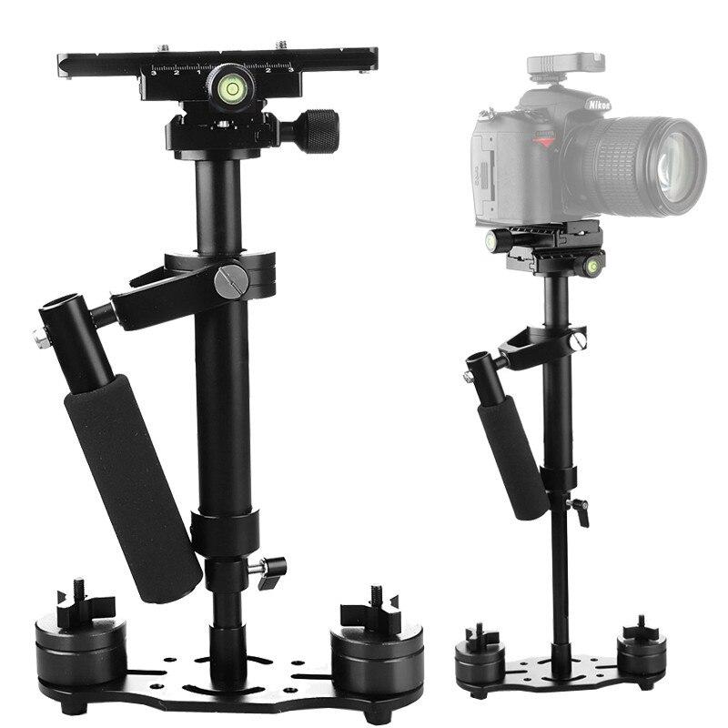 S40 + 0.4 M 40 CM stabilisateur de poche en alliage d'aluminium pour Steadicam pour Canon Nikon AEE DSLR caméra vidéo