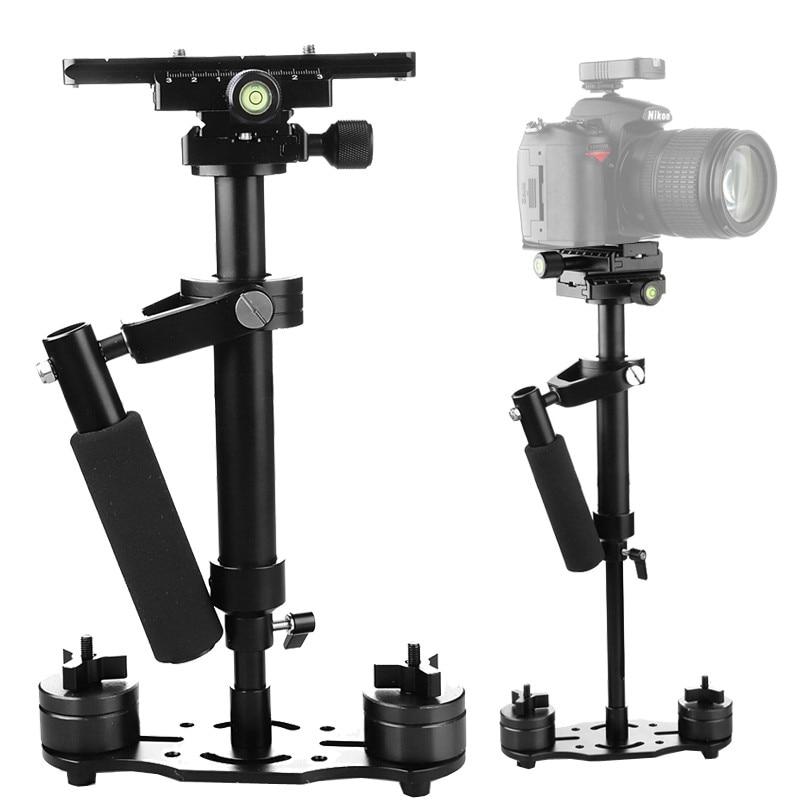 S40 + 0.4M 40 CENTÍMETROS Liga de Alumínio Handheld Steadycam Estabilizador para DSLR Câmera de Vídeo Steadicam para Canon Nikon AEE