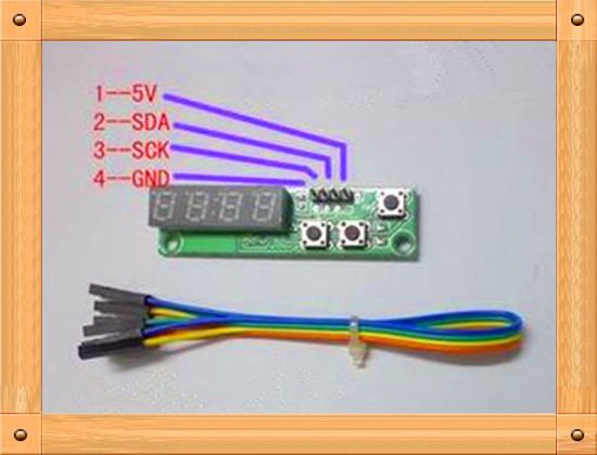 Free Shipping!!! 2pcs TM1650 display key board / I2C communication SOP16 / brightness adjustable by software (finished)