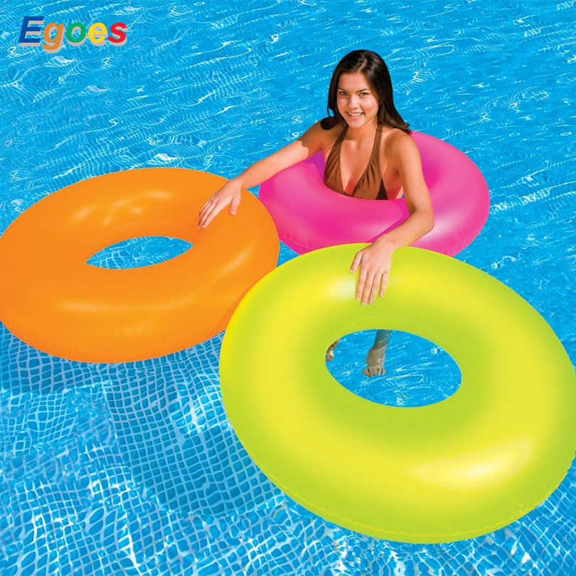 Egoes Neon Frost Tube Inflatable Swimming Pool Float Raft Ring 59262