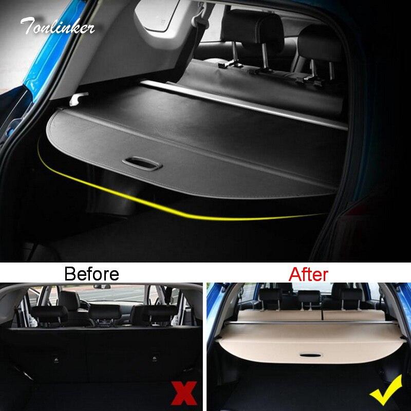 Tonlinker couverture autocollants pour TOYOTA RAV4 2014-18 voiture style 1 pièces ABS toile extensible coffre position arrière supports couverture autocollants