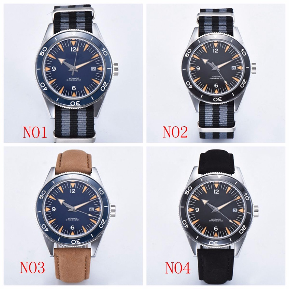 Top Luxury Brand luminous sapphire 41mm Mechanical Watch Men Automatic Sport Design Clock Leather Mechanical Wrist