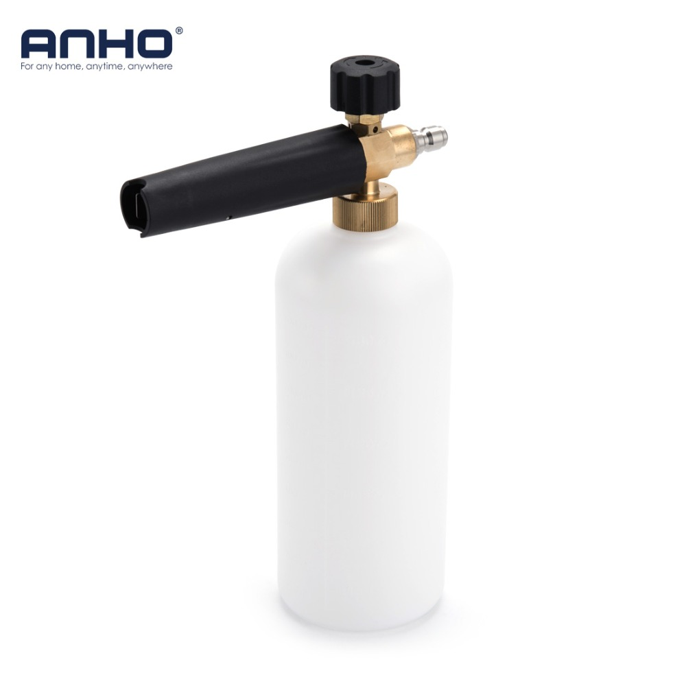 ANHO Car Washing Foam Gun Quick Release Adjustable Snow Foam Lance Sprayer Nozzle High Pressure Bottle Cleaning Washer Car Tools цена 2017
