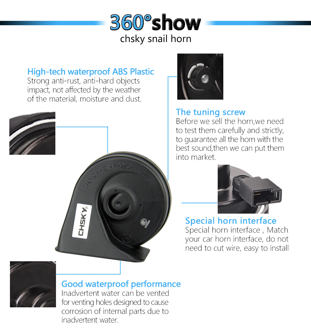 hight resolution of  xlmodel custom 45537 chsky car horn snail