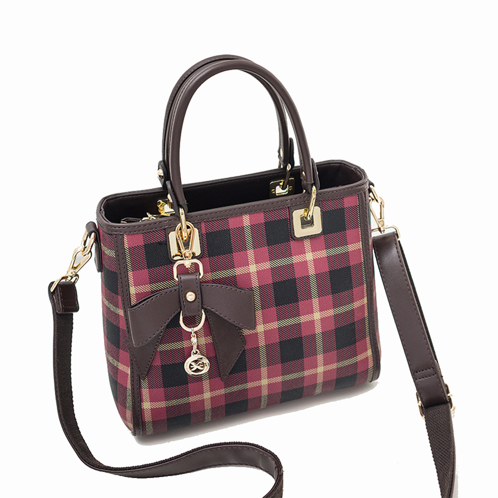 цена Plaid pattern Luxury 100% Real Leather Women Designer Handbags Brand Cowhide Women Shoulder Messenger Bag Elegant tote Handbag