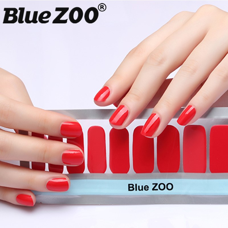 New 20 Tips/Sheet Pure Color Nail Wraps Full Cover Nails Sticker Art Decorations Manicure Nail Vinyls Adhesive Nails Decals free shipping new 2017 hot 13 single pure color series classic collection manicure nail polish strips nail wraps full nail sheet