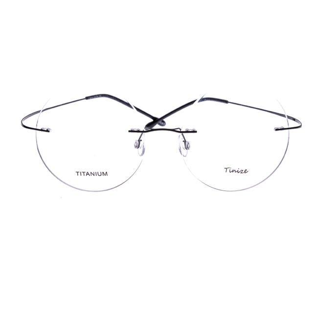 Light-weight 8 Colors Total Round 53mm Rimless Optical Glasses Memory Titanium Eyeglasses Prescription Rx Optical Frames B608
