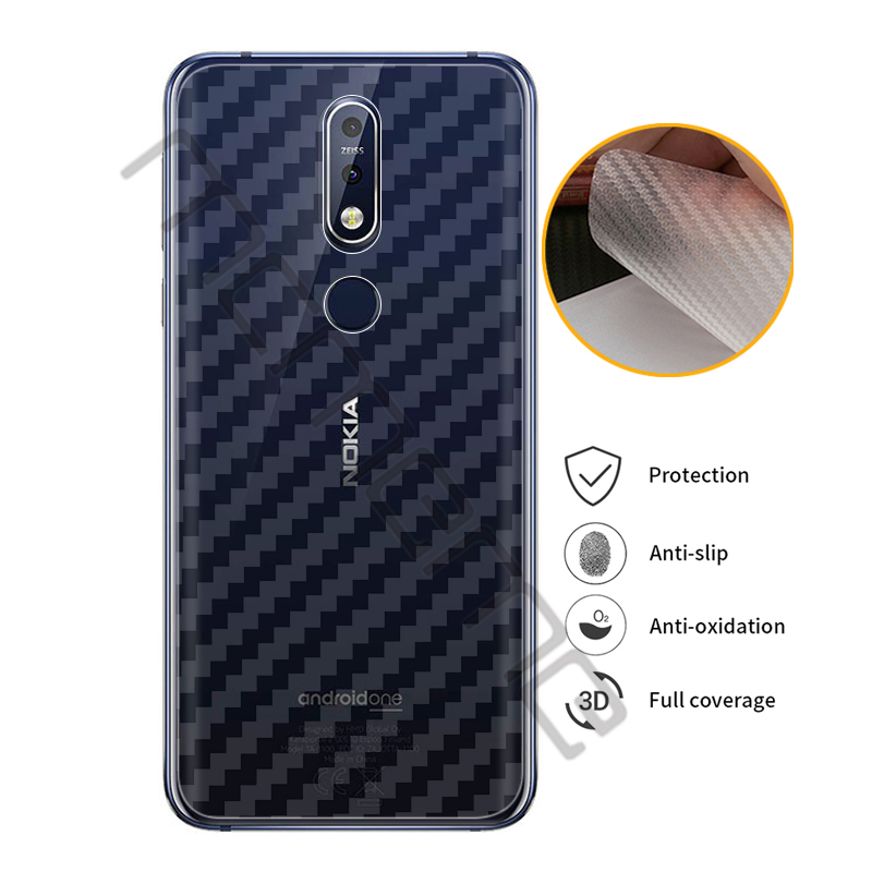 5pcs/lot Clear 3D Soft Carbon Fiber For <font><b>Nokia</b></font> <font><b>7.1</b></font> <font><b>Screen</b></font> <font><b>Protector</b></font> Sticker Back Protective Film Not Tempered Glass image