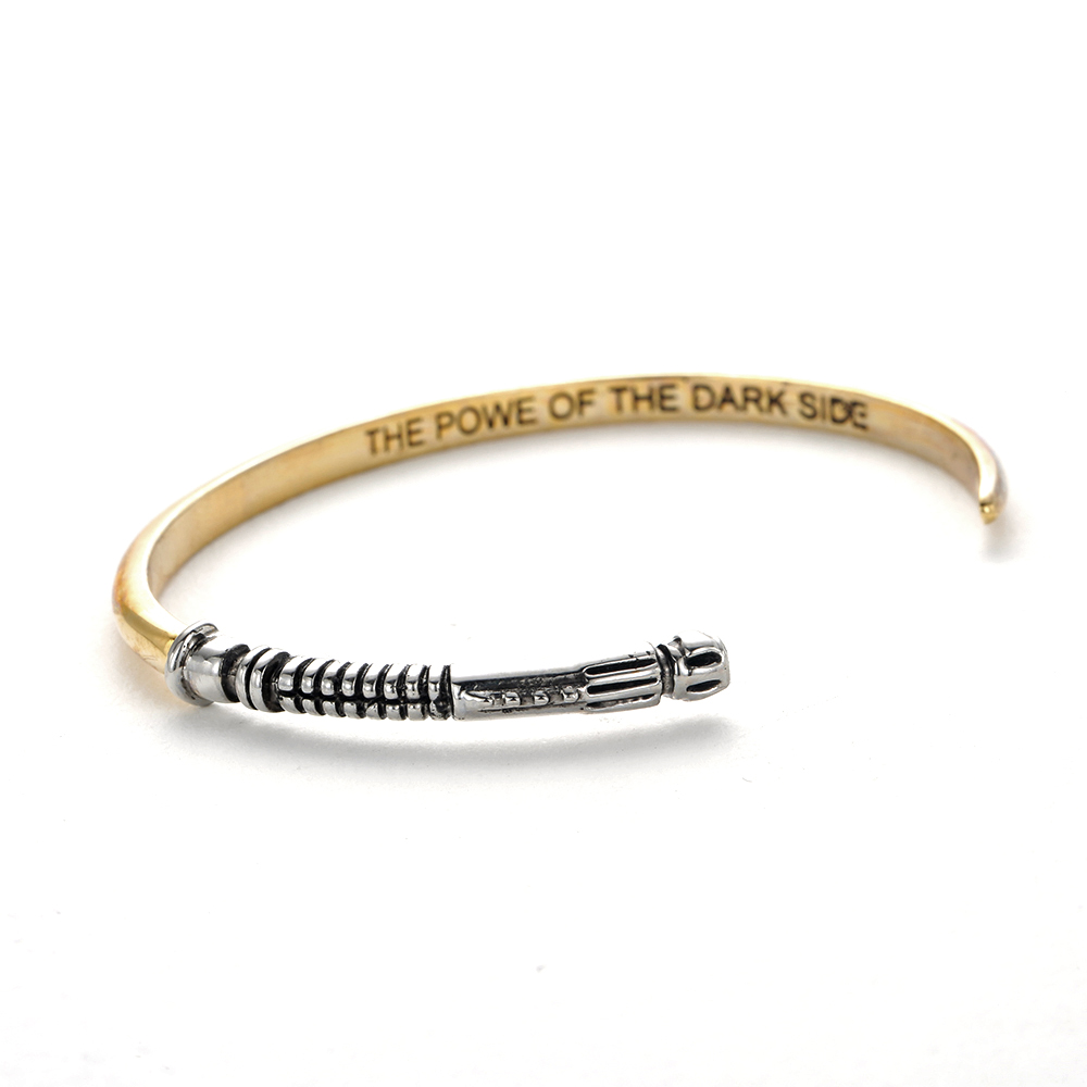 Bracelets & Bangles Jewelry & Accessories Star Wars Curved Lightsaber Openable Bangle the Power Of Dark Side Dar Cuff Bracelet Gift For Star Wars Fans Wholesale