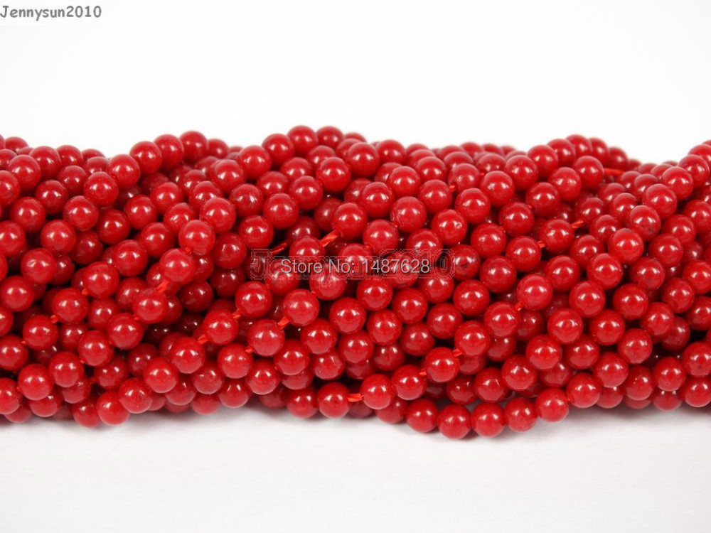 "Long 36/"" 6-7 mm Naturel Japon South Sea corail rouge gemmes perles rondes Collier AAA"