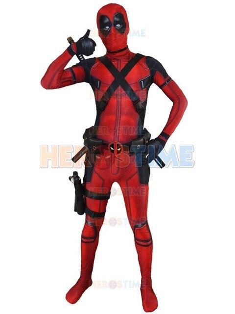 3D Printed Red X-Force Deadpool Costume Lycra Spandex Halloween Superhero  Costume Fullbody Zentai Suit