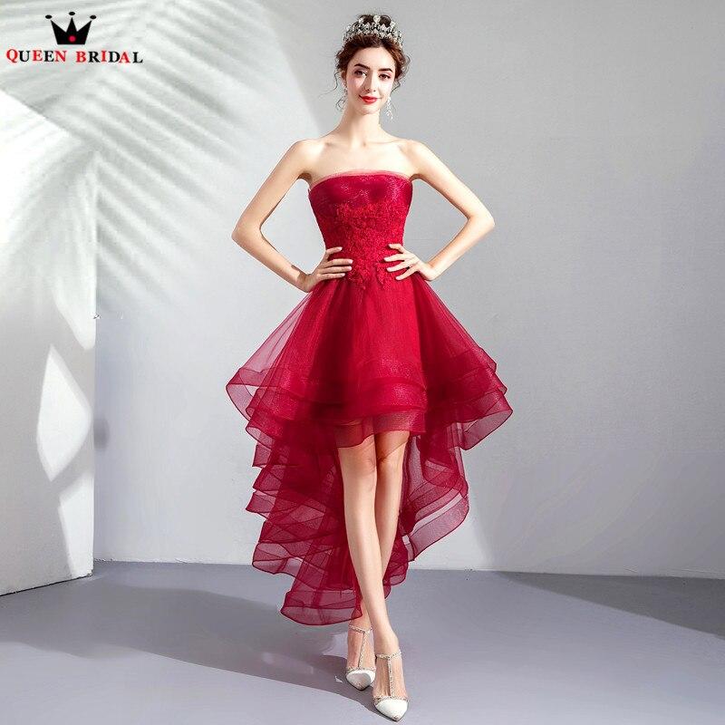 75f21e0c9bf Sexy 2018 Dentelle Robes Nouvelle Volants Soirée Robe À Haut Mode Perles  Rouge Couleur De Courte ...
