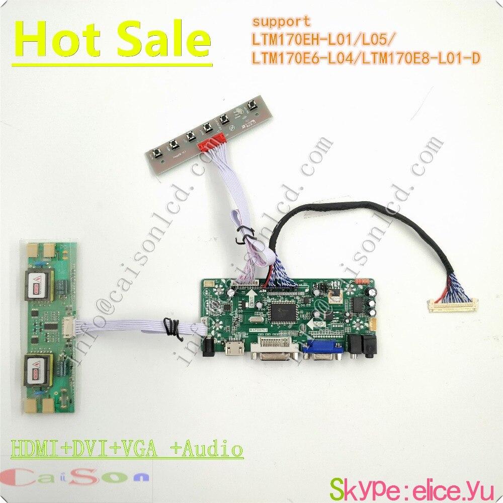HDMI DVI VGA AUDIO of LCD main board driver LTM170EH L01 L05 LTM170E6 L04 LTM170E8 L01
