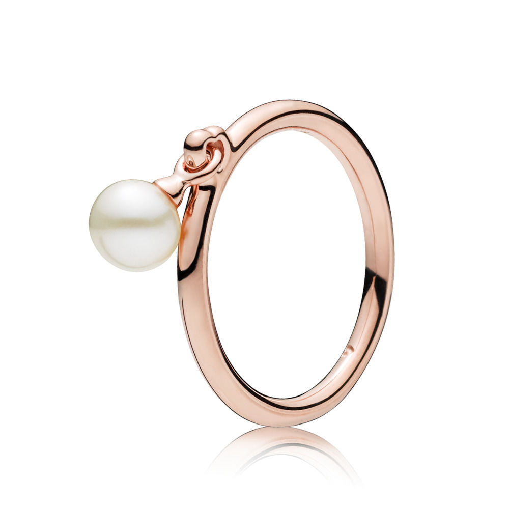 CHAMSS 2019 Years New 925 Sterling Silver Contemporary Pearl Ring Girlfriend Anniversary Fashion Versatile Jewelry Gift 187525P(China)