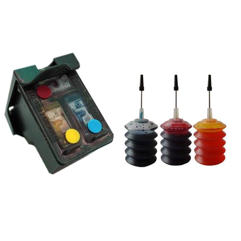 CMY Riutilizzabile Cartuccia di inchiostro a Colori di ricambio per HP 121 Per DeskJet D2563/F2483/F4283/F4583 Envy 110 e-All-in-One