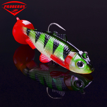 Soft Lead Bait Fishing Lures 15g 6# Hooks 3D Eyes Lifelike Wobblers Isca Artificial Bait Attract Fish Sea fishing Rubber Shad цена 2017