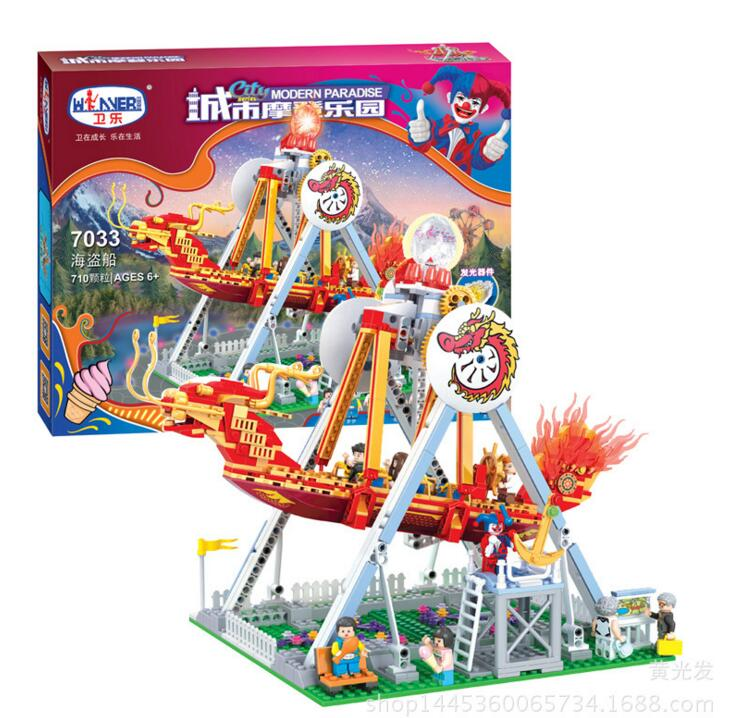 new 7033 Friends series the City Park Cafe Pirate Ship Model Building Block Classic girl toys Compatible with lepin lepin 16018 756pcs genuine the lord of rings series the ghost pirate ship set building block brick toys compatible legoed 79008