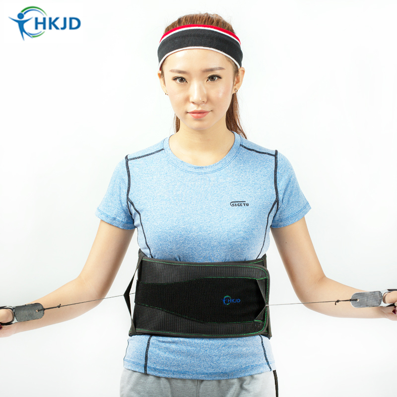 Durable Black Waist Support Brace Belt Lumbar Lower Waist Double Adjustable Back Belt For Pain Relief Gym Sports Accessories adjustable pressurized waist support belt coyoco brand gym sports weightlifting fitness running training waist brace protect